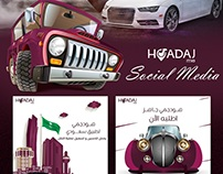 HoadajMe car booking app .. Social Media