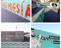 """""""Somos poesía"""" Street art project"""