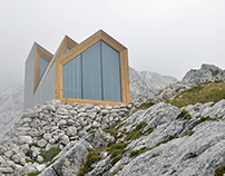 alpine shelter - a room with a view