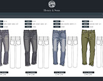 Henry and Sons Line Sheet Sample