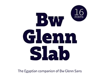 Bw Glenn Slab — Free demo font