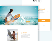 Surfboard Landing Page Design Concept