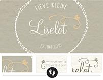 Geboortekaartje Liselot