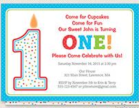 Number One Birthday Invite