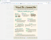 Wood or Cement Infographic