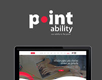 POINT ABILITY Logo design Website design UX