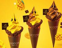 GODIVA ice cream | foodography
