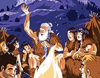 """Affiche de la """" Fete de la prehistoire a Solutré""""."""