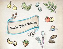 Food doodle for kids