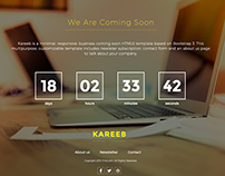 Coming Soon Free PSD Template (With Counter) – Kareeb