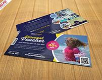 Free PSD : Travel and Trip Discount Voucher PSD