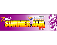 Z107.9 Summer Jam Animated Header