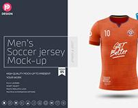 Men's Soccer Jersey Mockup V5