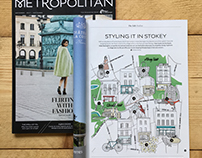Eurostar Magazine Stoke Newington High Street Map
