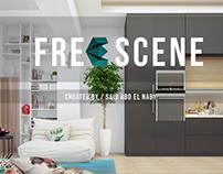 FREE SCENE - Modern living room