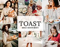Free Toast Mobile & Desktop Lightroom Presets