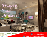 Shaping your dreams - Living room interior designs