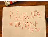 Drawn Letters: Over the rainbow