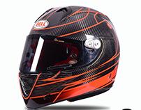 Motorcycle Helmet Bell Custom painted by LCD