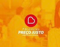Logo Rede de Farmácias, Preço Justo.