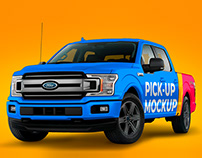 Pickup Truck Mockup PSD FREE