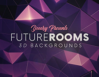 6 FREE Futuristic 3D Room Backgrounds 2