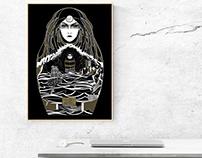 Mythe de Pandore — Affiche sérigraphie