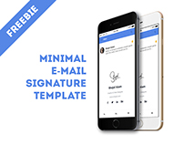 Minimal E-mail Signature template (freebie)