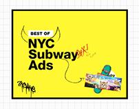 NYC Subway Ads: UX/UI & Illustration