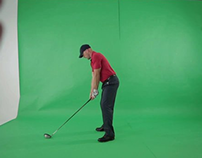 Golfer keying and golf ball animation