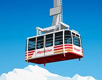 Wengen Ski Resort Mannlichen Cable Car Poster