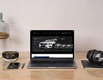 Конкурсный проект дизайна сайта Mercedes Benz