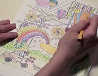 Kuma Colouring Time (Time Lapse Video)