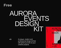 Aurora: Free Web Elements for Adobe XD and Sketch