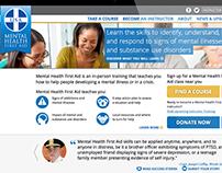 Mental Health First Aid Website Design