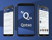 Concept app design - Qotsa