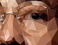 "Gustavo ""Gus"" Fring polygonal portrait"