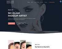 Makeup Artist Website Design with Booking ( SK Glam )