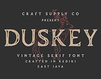 Duskey - Vintage Serif Font + Extras (Free Download)
