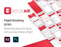 BookAir - Flight Booking App UI Kit - PSD, XD