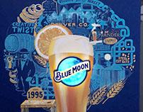 Blue Moon mural @La Terraza de Paulas