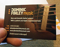Logo & Branding fro Guitar Instructor Dominic Finley