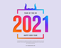 Free Happy New Year 2021 Banner Template