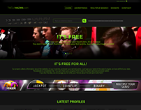 One of first layout's for faceit website.