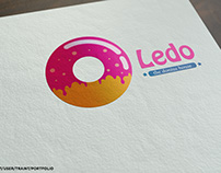 ledo -the donuts house- logo