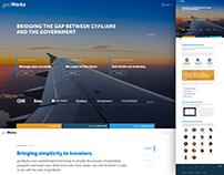govWorks Website Portal Design
