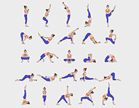 Collection of 75 yoga poses