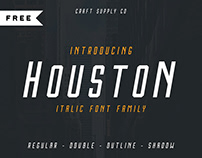 FREE | Houston Italic (Outline & Shadow)
