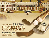 Brochure and Postcard—Mid Pines Hickory Open