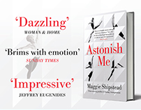 Astonish Me book cover adverts